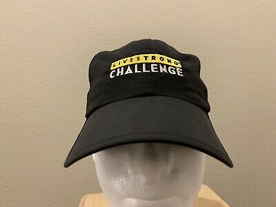 Nike Livestrong Challenge Black Dri-Fit Running Biking Adjustable Hat Cap dd24533382fe