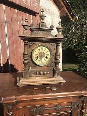 Antique Victorian Mantel Clock Spares Or Repairs