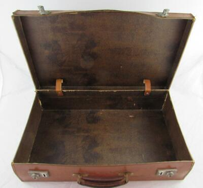 Vintage Brown Leather Suitcase