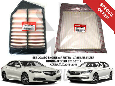 Combo Set For Honda Accord & Acura TLX 4CYL 2.4L Cabin & Engine Air Filter 13-17