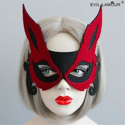 1pc Sexy Women Red Fox Face Mask Halloween Cosplay Party Gift Eye Mask