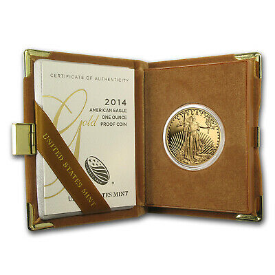 2014-W 1 oz Proof Gold American Eagle (w/Box & COA) - SKU #79347