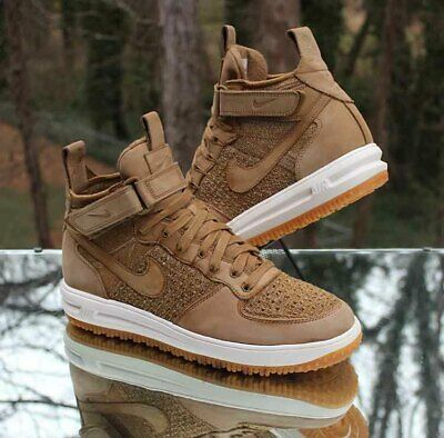 3fdeb552850c Nike Lunar Force 1 Flyknit Flax Wheat 855984-200 Men s Workboots Size 11