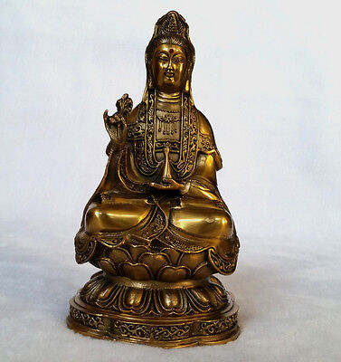 Chinese Chinese Folk temple ancient Style guanyin Bodhisattva Old statue