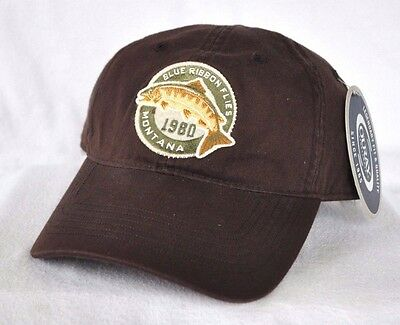 *BLUE RIBBON FLIES MONTANA* Trout Fly Fishing Ball cap hat OURAY embroidered