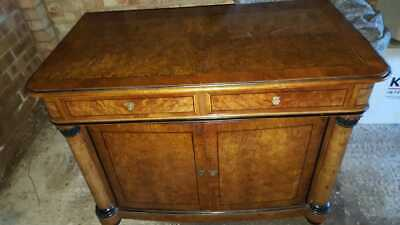 Antique Cabinet/sideboard (Think Oak) Unit With 1 Original Key