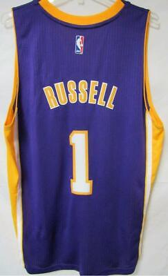 09f28cae L.A. Lakers Mens Size Large +2 D'Angelo Russell #1 Adidas Swingman Jersey