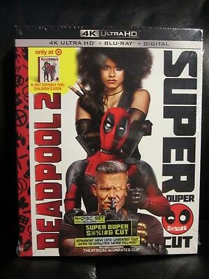 Deadpool 2 4K UHD + Blu-Ray + Digital HD Target Exclusive New Sealed Mint Marvel