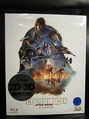 Star Wars Rogue One 3-disc 3D/2D Blu-Ray + Bonus Discos [ Corea ] Amaray