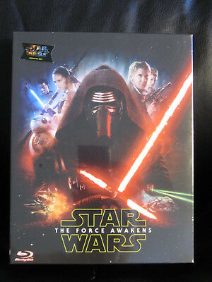 Star Wars: The Force Awakens Novamedia Blu ray Steelbook Full Slip Mint Sealed
