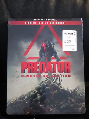 Predator Trilogy 3 Movie Colección Blu-Ray Digital HD Caja Metálica