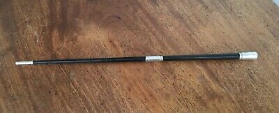 Antique Solid Silver Sleeved Ebonised Conductor's Baton