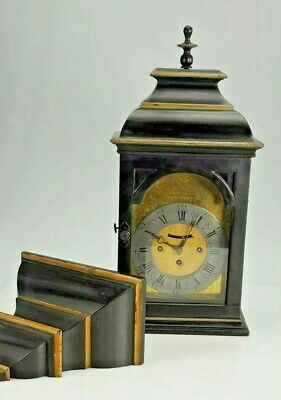 RARE 18th CENTURY AUSTRIAN VERGE QUARTER STRIKE BRACKET CLOCK WITH BRACKET