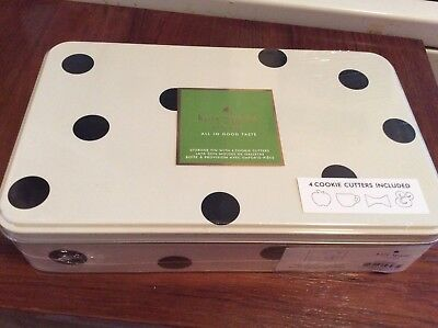 KATE SPADE Lenox  All in Good Taste - 4 Cookie Cutters with polka dot TIN