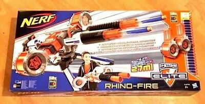 Nerf Rhino Fire N-Strike Elite Blaster Drums 50 Elite Darts XMAS GIFT L@@K