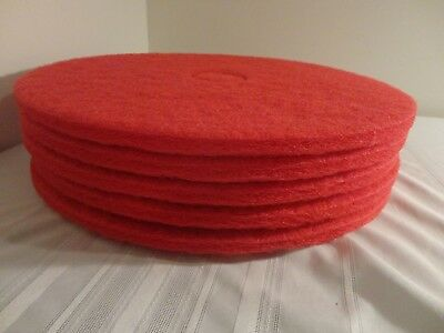 """20"""" Red Buffing and Cleaning Floor Pads - Case of 5 Pads"""
