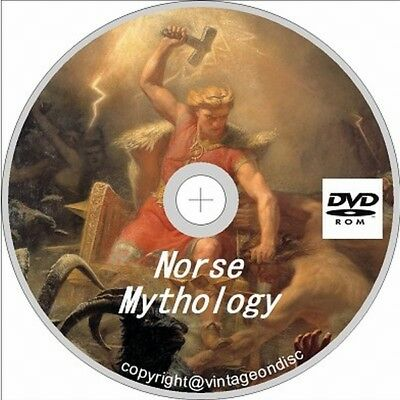 Norse Mythology 202 vintage Viking Mythology Books on Dvd Rom