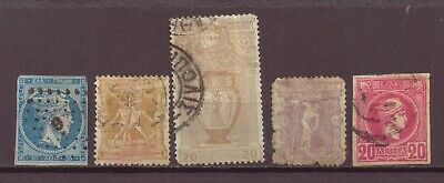 Greece, Olympics, & Hermes, Used, 1870s, 1890s, 1896, OLD