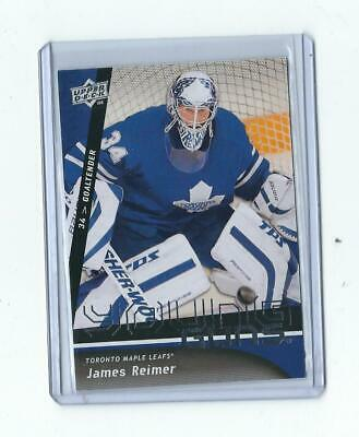 2009-10 Ud Young Guns Rookie James Reimer #493 Rc Leafs Panthers