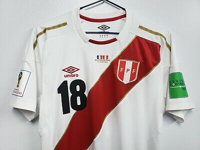 Umbro Peru Player Issue Elite Shirt Vs France World Cup Russia All Players  Sizes ecb11c60f