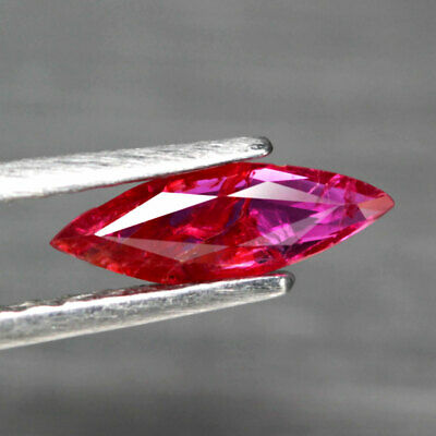 0.63 Ct. Unheated Marquise Facet Natural Ruby Pinkish Red Mozambique Twinklinig