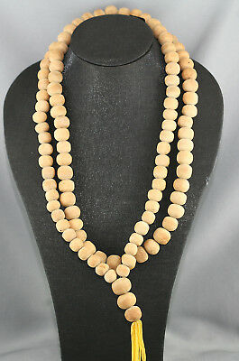 Fantastic Antique Chinese Monks Prayer Beads Necklace Handmade Of Sandalwood