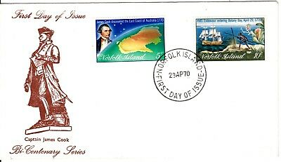 1971- Norfolk Island -  Captain Cook 2nd issue  - FDC