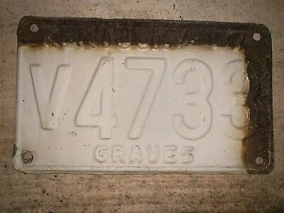1937 Graves County Kentucky License Plate