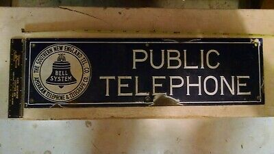 western electric telephone porcelain SIGN southern new england telephone