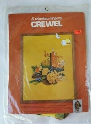 Harvest Design Crewel Embroidery Kit 7622 Thanksgiving Theme Fall Autumn Stamped