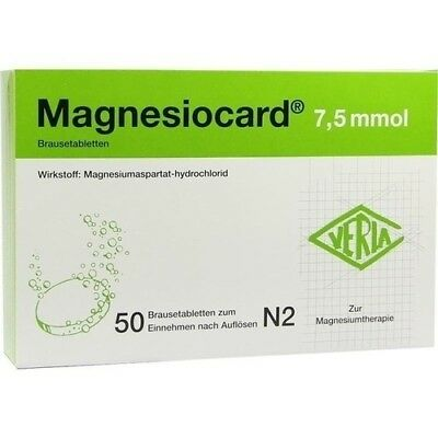 MAGNESIOCARD 7,5 mmol Brausetabletten 50 St 00110295