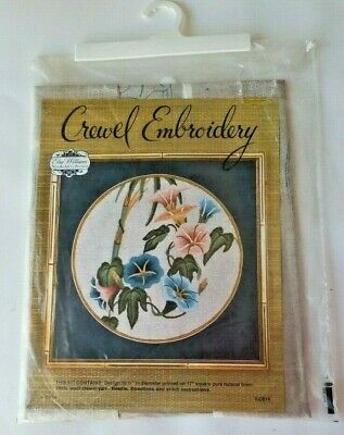 Elsa Williams Creative Crewelwork Kit Floral Flowers Crewel #00234 Natural Linen