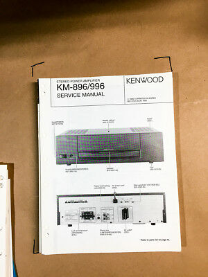 KENWOOD KM-991 SERVICE Manual Book In English Stereo Power ... on