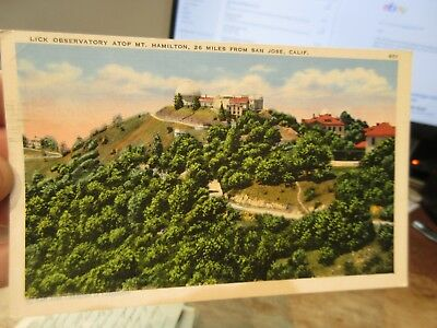 Vintage Old Antique Postcard CALIFORNIA Lick Observatory San Jose Mt. Hamilton