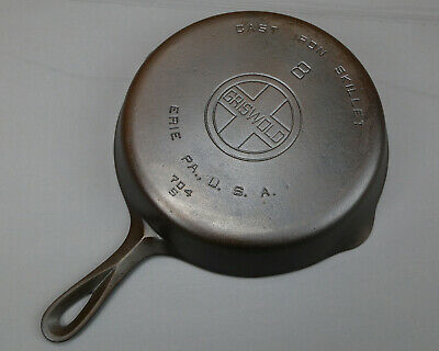 Griswold #8 Large Block Logo Cast Iron Skillet Frying Pan LBL 704 Weighs 3lb10oz