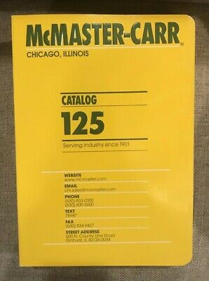 NEW McMaster Carr Catalog #125 Industrial Tool Chicago
