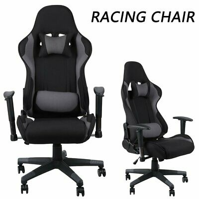 Enjoyable Reclining Fabric Racing Office Desk Computer Chair Gaming Ncnpc Chair Design For Home Ncnpcorg