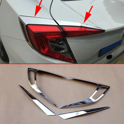 Chrome Tail Light Trims For Honda Civic 2016-2019 Taillight Strips Accessories