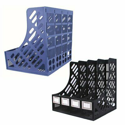 4 Shelves Storage Box Magazine Document Book File Tray Divider File Desk Holder