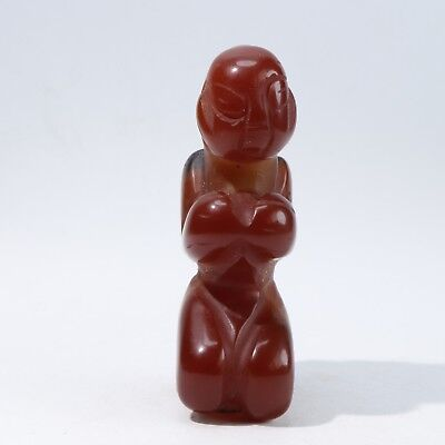 Chinese agate carved agate statue B2761