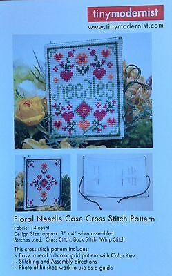 Floral Needle Case Chart by Tiny Modernist