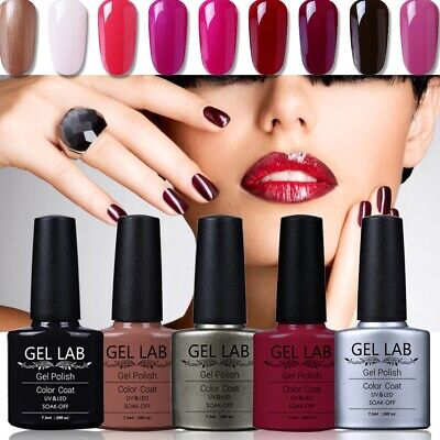 GEL LAB Soak Off Gel Polish Need Base Top Coat Varnish Lacquer 10ml B