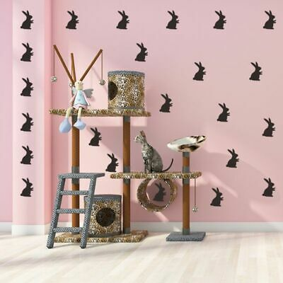 Easter Bunnies Wall Decals Peel and Stick Removable Reusable Decoration for Kids