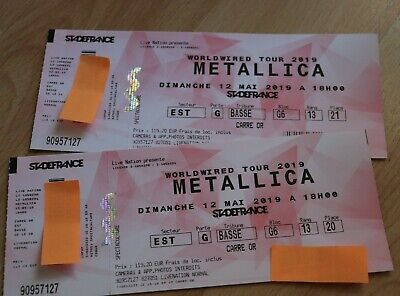 METALLICA Tickets Paris 12.5.2019 Stade de France 2 original Tickets 🤘