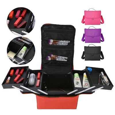 Professional Large Capacity Makeup Bag Cosmetic Case Storage Organizer Case