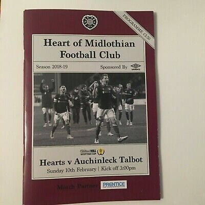 MINT HEARTS v AUCHINLECK TALBOT (SCOTTISH CUP) FOOTBALL PROGRAMME 10/02/2019