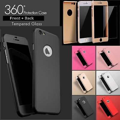 Case For iPhone 7 Plus Hybrid Hard Front Back Shockproof Heavy Duty 360 Cover