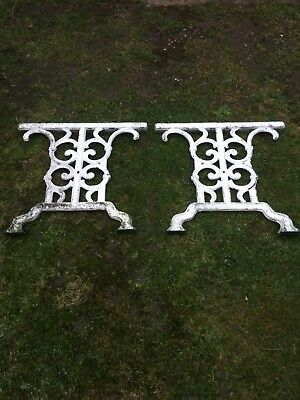 Nice Pair Of Cast Iron Metal Garden Table Ends