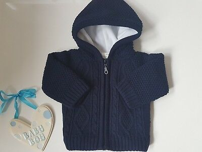 Baby Boy or Girl Spanish  Navy or Red Padded Hooded Jacket Free Postage £16.99