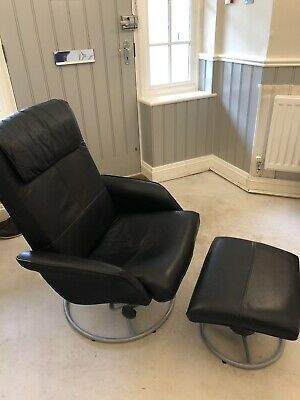 Ikea Leather Reclining Chair And Footstall 163 10 00